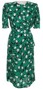 Green and black floral dress – Rokit Vintage