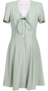 Green and white polka dot dress – Rokit Vintage
