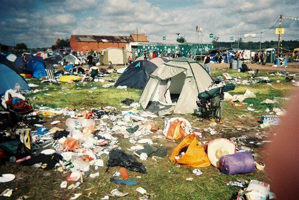 Rubbish left at Reading